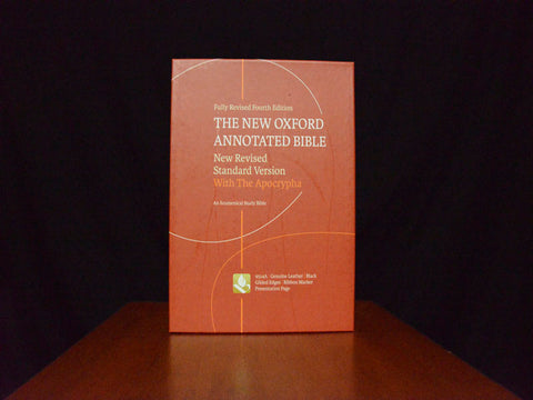 The New Oxford Annotated Bible with Apocrypha: NRSV (leather bound)