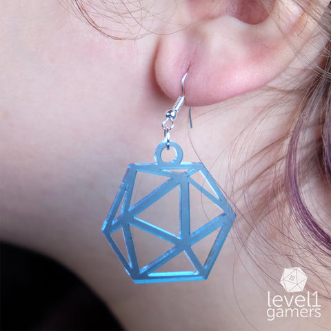 D20 Acrylic Earrings