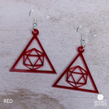 D20 Triangle Acrylic Earrings