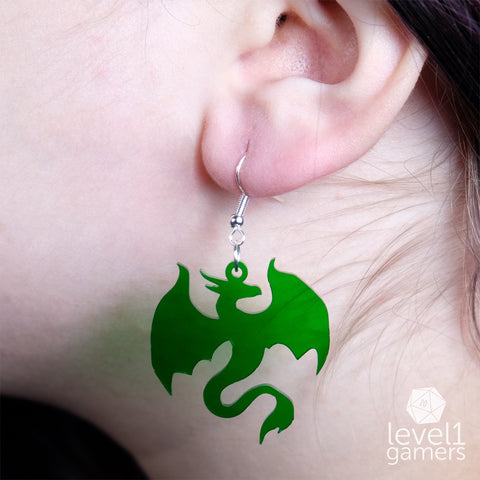Dragon Acrylic Earrings