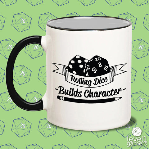 Rolling Dice Builds Character Mug
