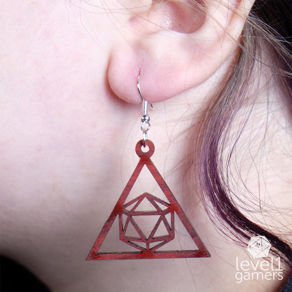 D20 Triangle Earrings