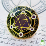 Magic Dice Circle Enamel Collectors Pin