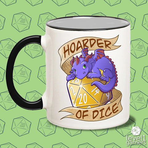 Hoarder of Dice Dragon Mug