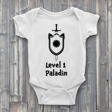 Load image into Gallery viewer, Level 1 paladin Baby Bodysuit