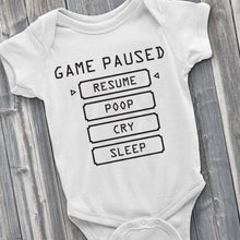 Load image into Gallery viewer, Baby Pause Menu Baby Bodysuit