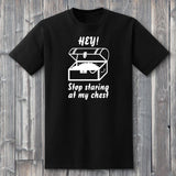 Hey! Stop Staring at My Chest, Pirate T-Shirt