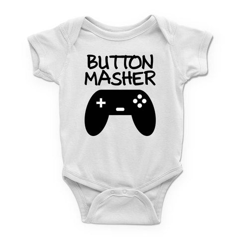 Button Masher Baby Bodysuit