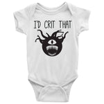 I'd Crit That Beholder Baby Bodysuit