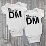 My Dad's the DM Onesie, My Mom's the DM Baby Bodysuit