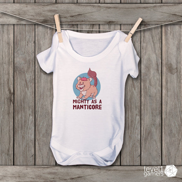 Mighty As A Manticore Baby Bodysuit