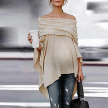 Load image into Gallery viewer, Maternity Loose Off Shoulder Irregular Hem Strapless Shirt