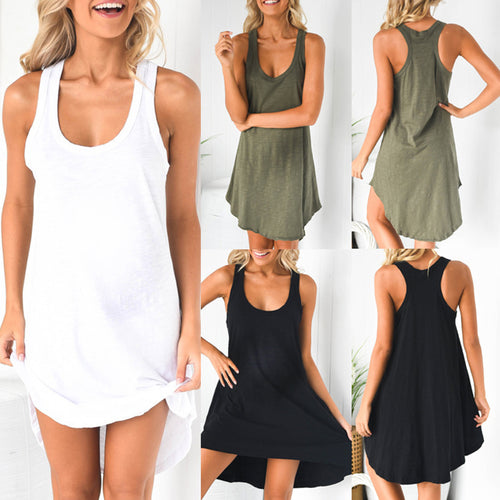 Maternity Scoop Sleeveless I-Back Dress