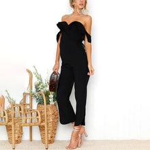 Load image into Gallery viewer, Maternity Strapless Ruffled Collar Jumpsuits