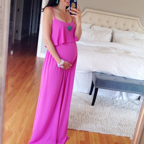 Maternity Double Layer Maxi Cami Dress