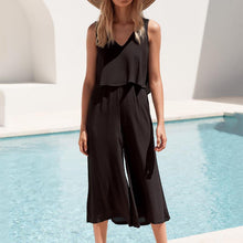 Load image into Gallery viewer, Fashion Pure Colour Sleeveless Loose Jumpsuits