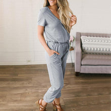 Load image into Gallery viewer, Maternity Plain V-Neck Casual Jumpsuit
