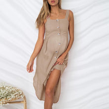 Load image into Gallery viewer, Maternity Sexy Square-Cut Collar Pure Colour Off-Shoulder Dress