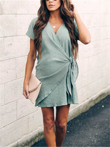 Maternity Solid Color Lace Dress