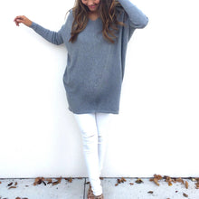Load image into Gallery viewer, Maternity Casual Pure Color V Neck Long Sleeve T-Shirt