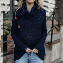 Load image into Gallery viewer, Maternity Long Sleeve Pile Collar Button Irregular Sweater