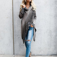 Load image into Gallery viewer, Maternity Fringed Sweater Cardigan