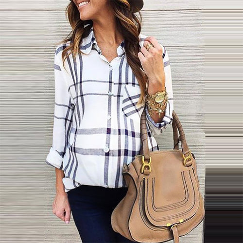 Maternity Elegant Stripe Long Sleeve Blouse