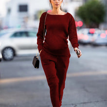 Load image into Gallery viewer, Maternity Round Neck Sports Suit