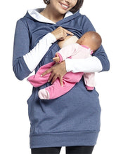 Load image into Gallery viewer, Maternity Casual Long Sleeve Pure Color Hoodie