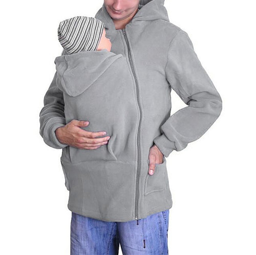 Casual Zipper Pure Color Long Sleeve Hoodie