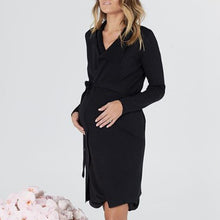 Load image into Gallery viewer, Maternity Brief Pure Color V Neck Dress