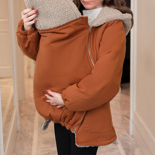 Maternity Brief Long Sleeve Pure Color Loose Coat