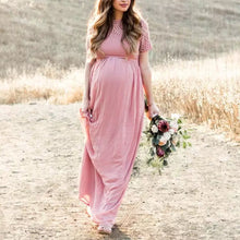 Load image into Gallery viewer, Maternity Pink Short Sleeve Dress