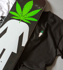 Weed Head Embroidered Tee