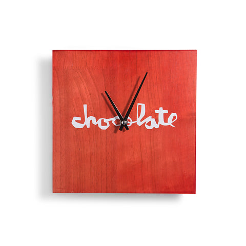 The Chocolate Red Square Wall Clock