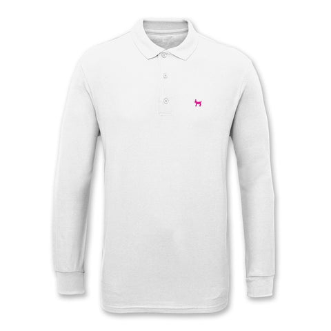 EMBROIDERED L/S POLO