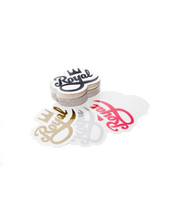 Royal Crown Script Sticker Pack
