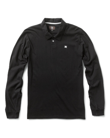 Heathered Pirate Polo L/S
