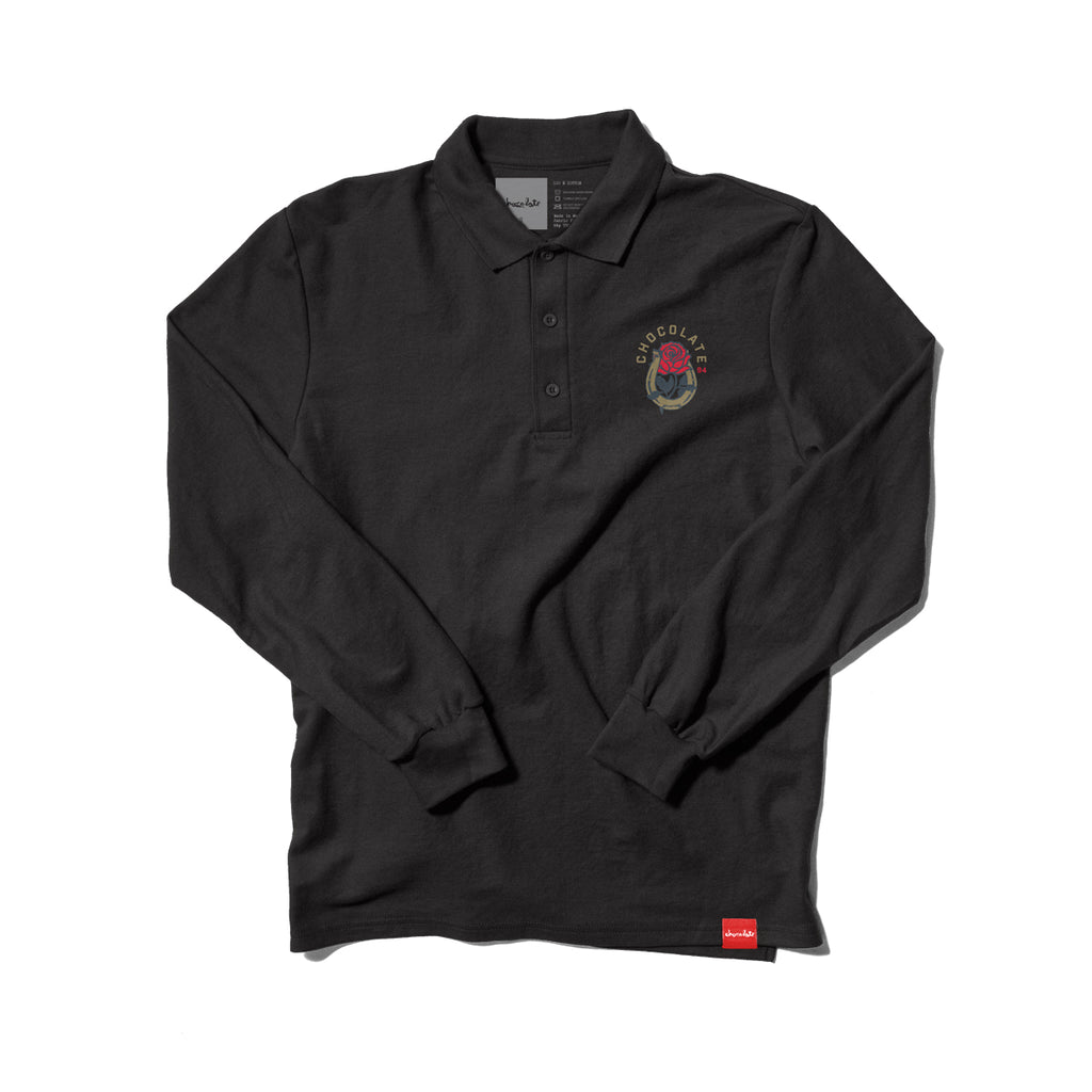 Luchador Embroidered L/S Polo