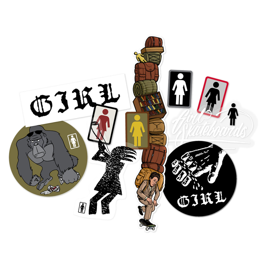 Girl One Off Sticker Pack