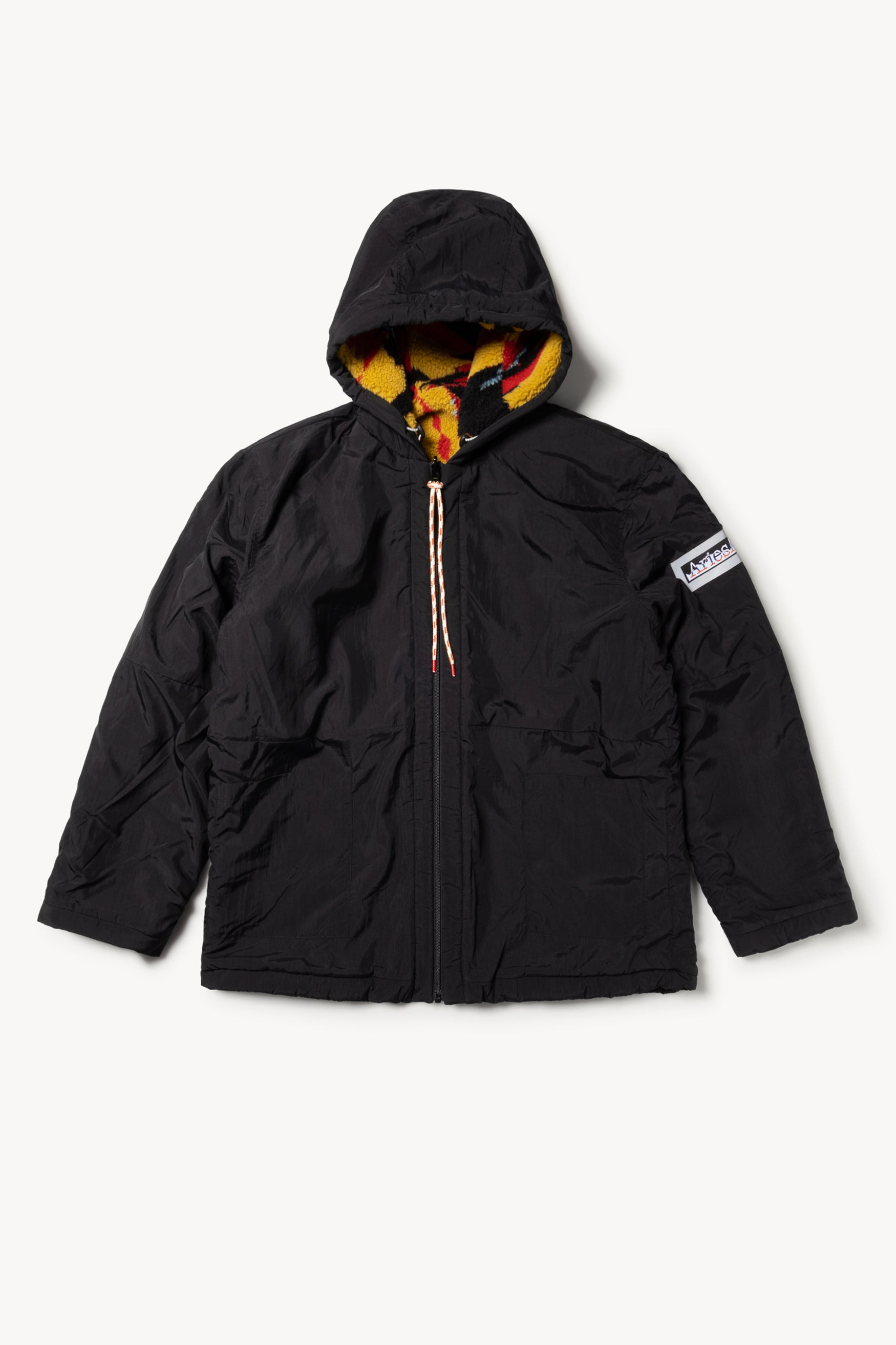 Load image into Gallery viewer, Aries Web Special Reversible Abstract Fleece Parka