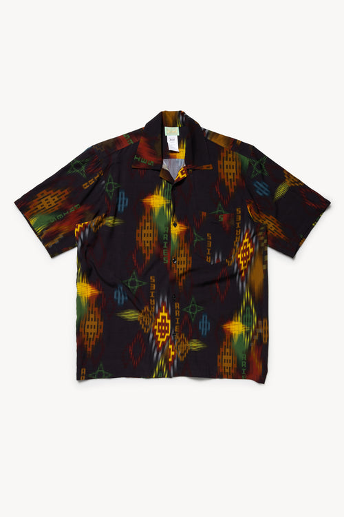 Ikat Print Hawaiian Shirt