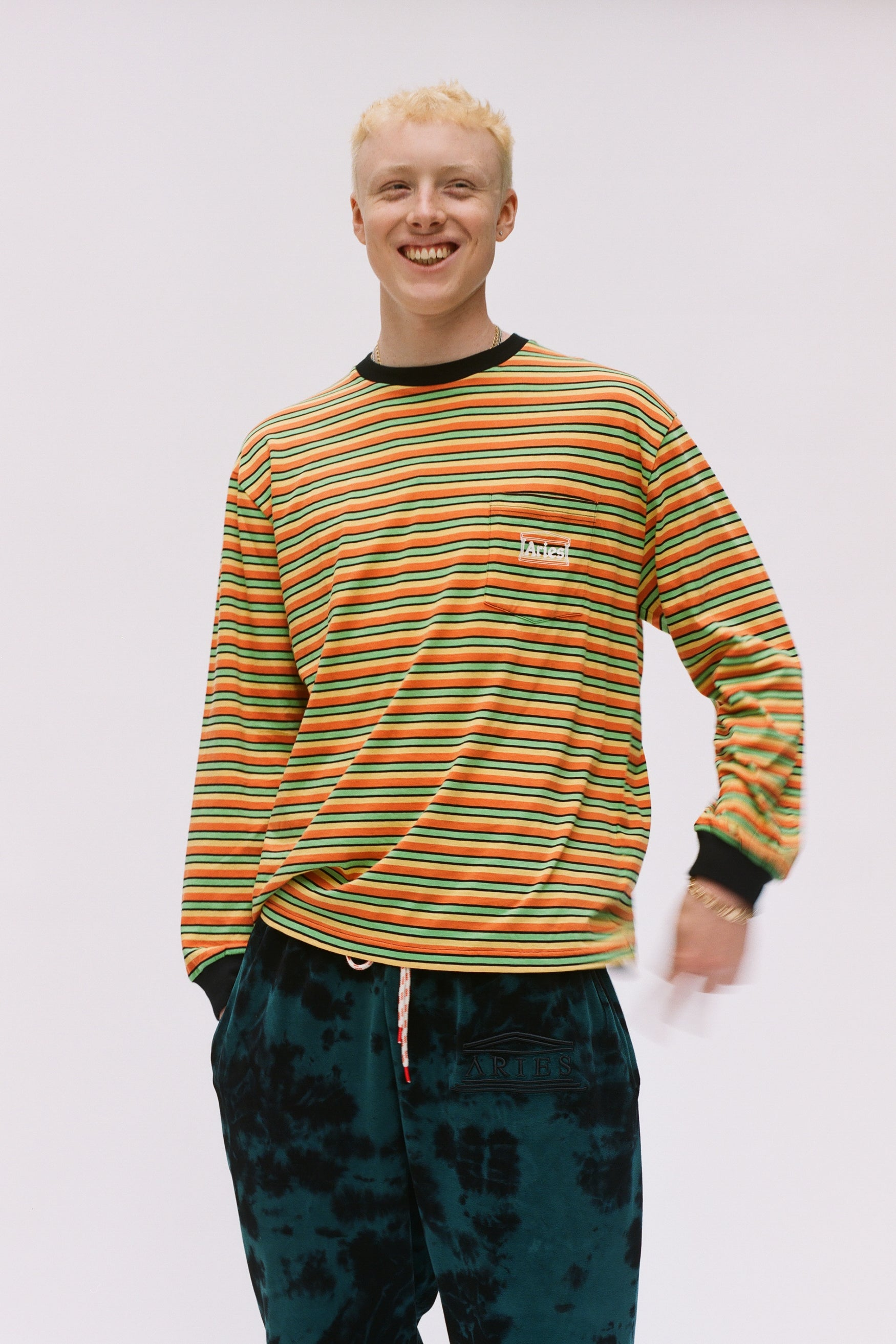 Load image into Gallery viewer, Striped Pocket Tee