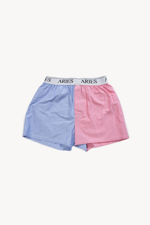 Mismatched Oxford Boxer Shorts