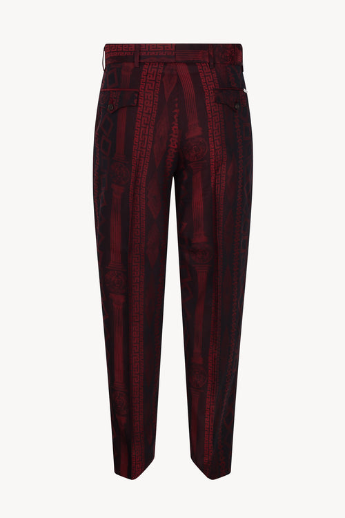 Tailored Column Jacquard Trouser