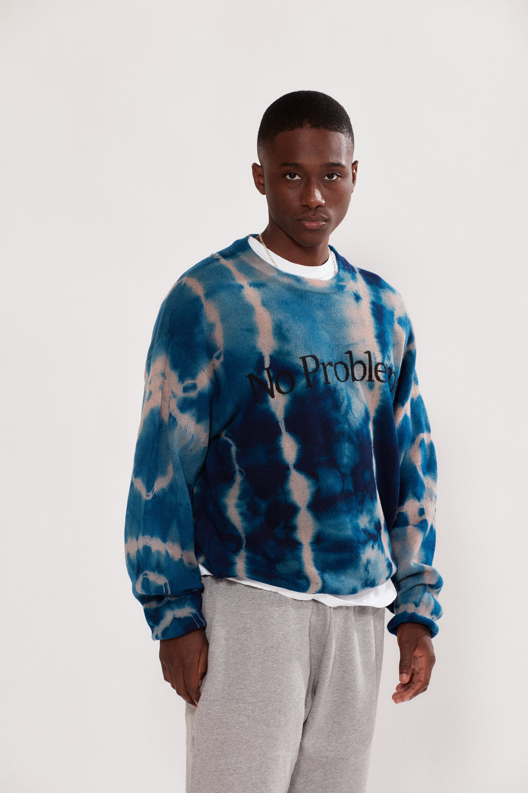 Load image into Gallery viewer, No Problemo Tie Dye Jumper