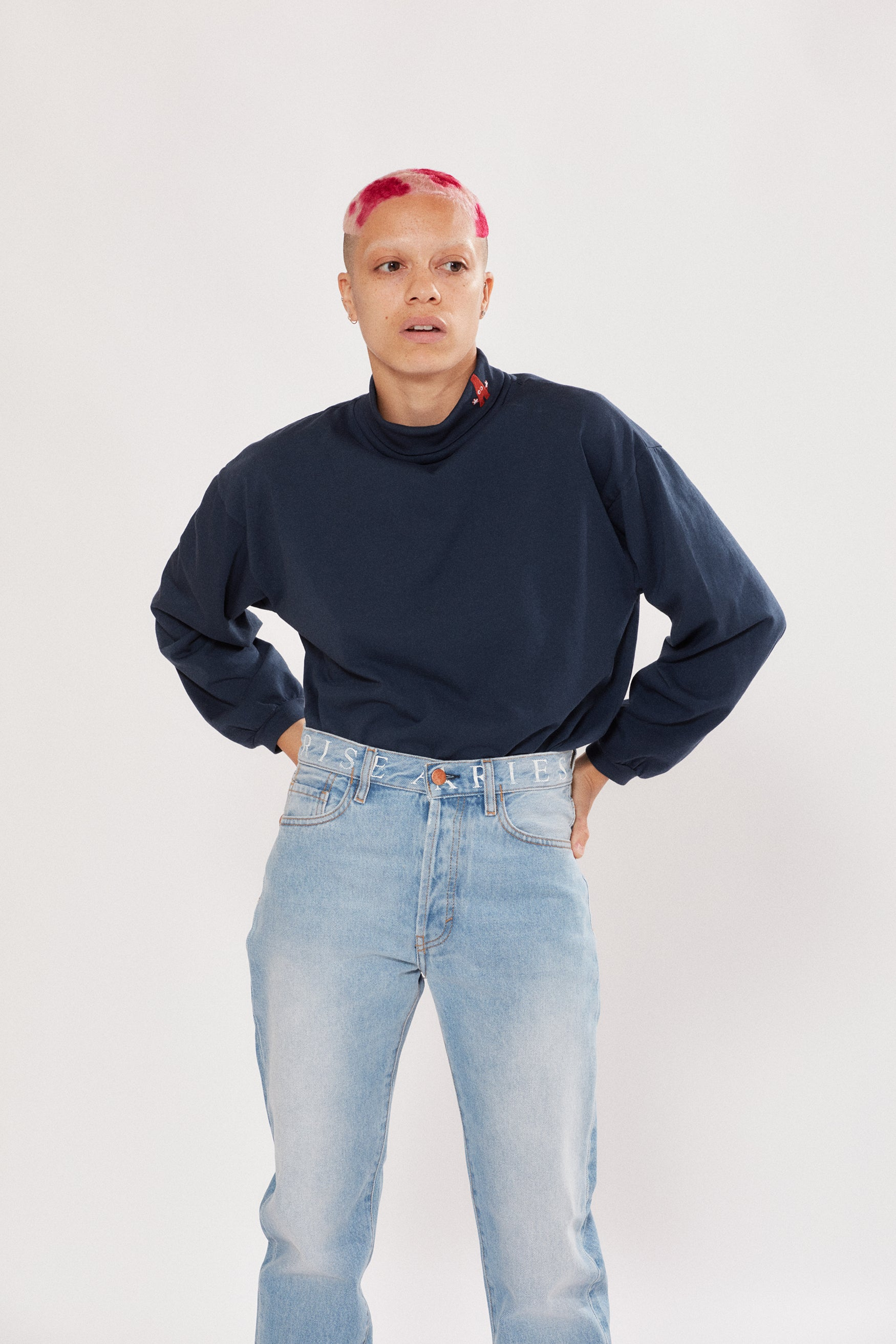 Load image into Gallery viewer, Baggy Roll Neck LS Tee
