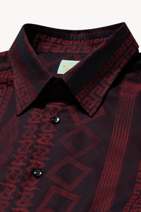 Column Jacquard Cotton Shirt