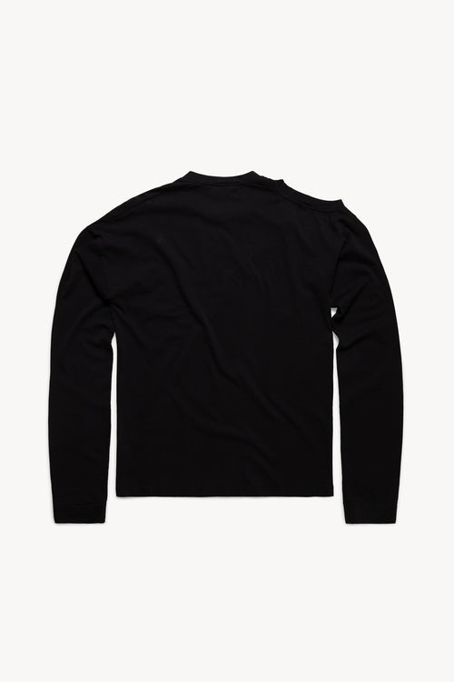 Shoulder Hole Super Long Sleeve Temple Tee