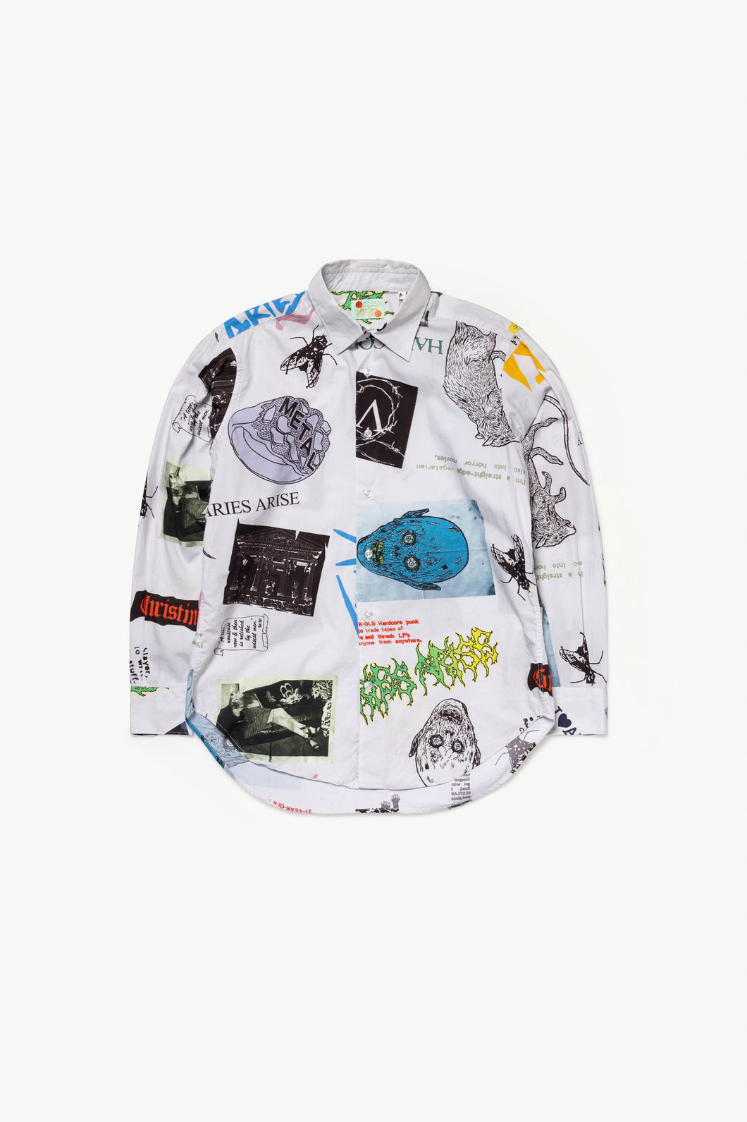 Thrasher Print Shirt Long Sleeve